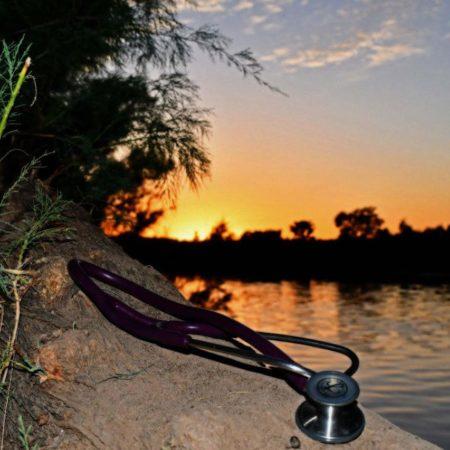 Sunset with stethoscope